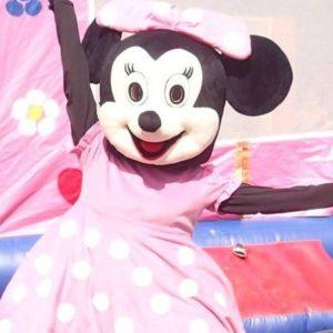 Mascotte Disney Minnie Rose