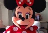 Mascotte Disney Minnie Rouge