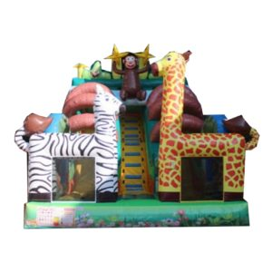 Toboggan gonflable jungle